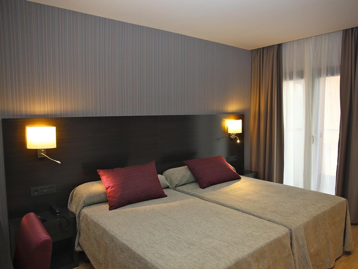 Habitación doble del Hotel Petit Palau, Hotel en Blanes (Costa Brava)