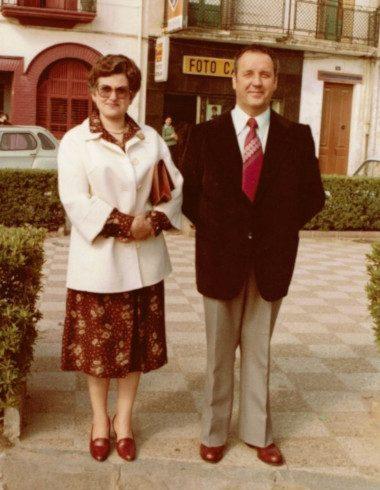 Los inicios: Fotografía de los padres de la actual propiedad Pepito Marès y Maria Bermúdez